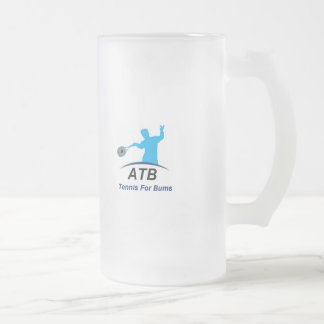 ATB White Bums 16 Oz Frosted Glass Beer Mug