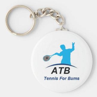 ATB White Bums Basic Round Button Keychain