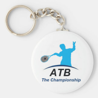 ATB White champ Basic Round Button Keychain