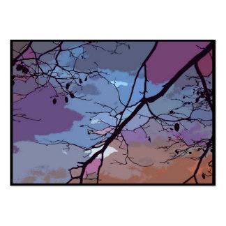 ATC abstracto de la puesta del sol Tarjetas De Visita
