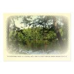 ATC ACEO de la señal del bosque del lago Ecclesias Plantilla De Tarjeta De Negocio