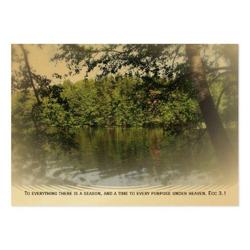 ATC ACEO del oro de la señal del bosque del lago E Tarjetas De Visita Grandes