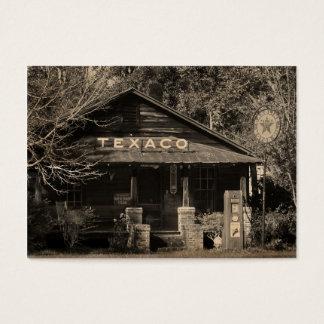 ATC americana de la foto de Texaco del vintage Tarjeta De Negocios