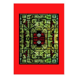 ATC barroco del vitral Tarjeta Personal