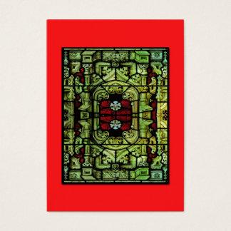 ATC barroco del vitral Tarjetas De Visita Grandes