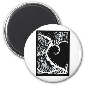 ATC black heart Magnet