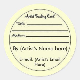 ATC Card Gift Set Sticker