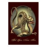 ATC chino ACEO del dragón del vintage Tarjeta De Visita