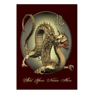 ATC chino ACEO del dragón del vintage Tarjetas De Visita Grandes