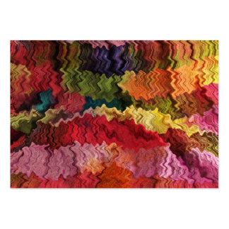 ATC colorido del extracto de la tela Plantilla De Tarjeta De Visita