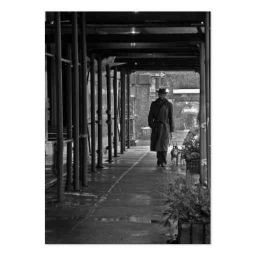 ATC de la foto del caminante del invierno de Nueva Tarjetas De Visita Grandes