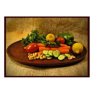 ATC de la placa de ensalada del Veggie Tarjetas De Visita Grandes
