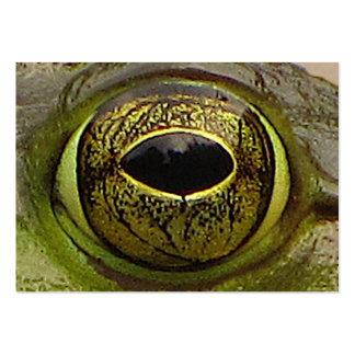 ATC del ojo de la rana Tarjetas De Visita Grandes