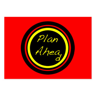 ATC del plan a continuación Tarjetas De Visita Grandes