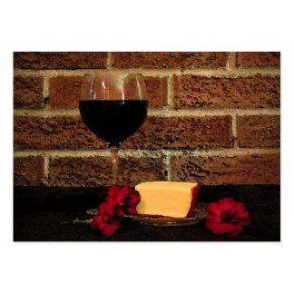 ATC del vino y del queso Tarjetas De Visita Grandes
