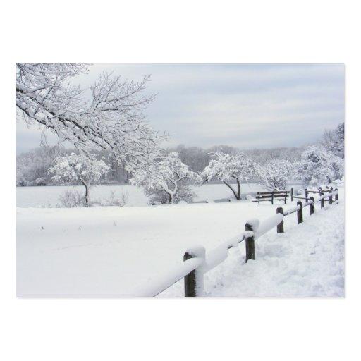 ATC pegajoso del ~ de la nieve 7 Tarjetas De Visita Grandes