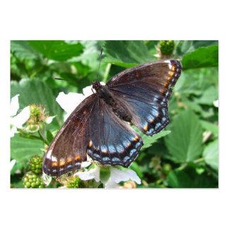 ATC púrpura del ~ de la mariposa Tarjetas De Visita Grandes