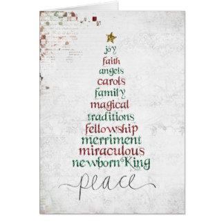 atcard de EE del árbol de navidad Tarjeta Pequeña