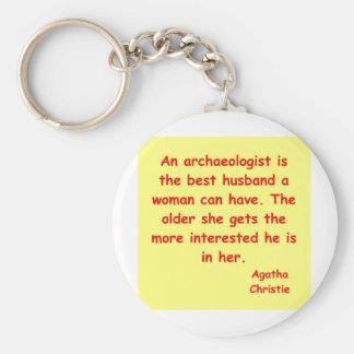 atchaeologist husband basic round button keychain