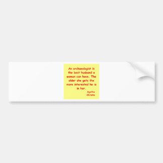 atchaeologist husband car bumper sticker