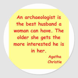 atchaeologist husband classic round sticker