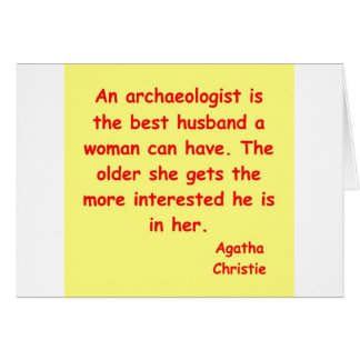 atchaeologist husband greeting card