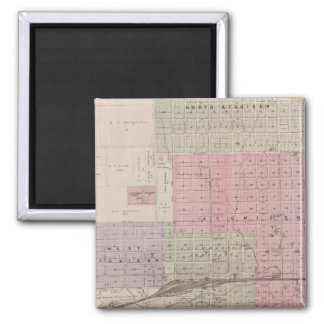 Atchison and vicinity, Kansas 2 Inch Square Magnet
