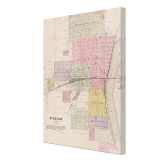 Atchison and vicinity, Kansas Canvas Print