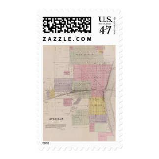 Atchison and vicinity, Kansas Postage Stamp