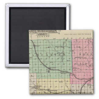 Atchison County, Kansas 2 Inch Square Magnet