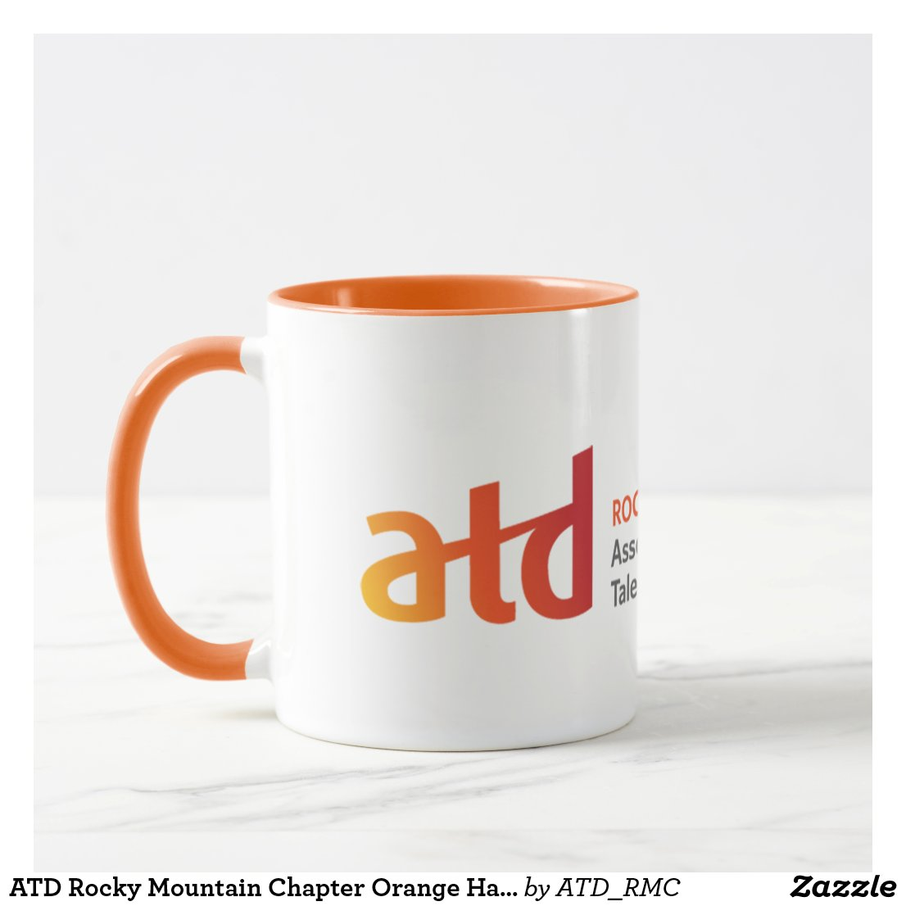 ATD Rocky Mountain Chapter Orange Handle Mug