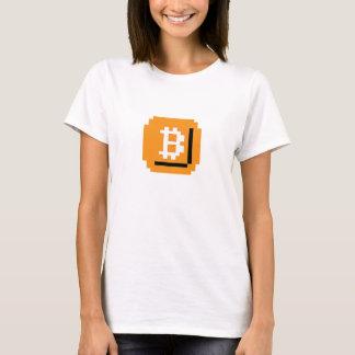 Ate Bit Bitcoin Block (Ladies Baby Doll Fitted T-Shirt