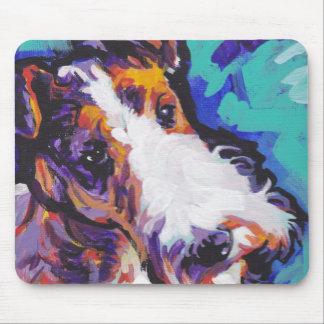 Ate con alambre el arte colorido brillante del tapete de ratones