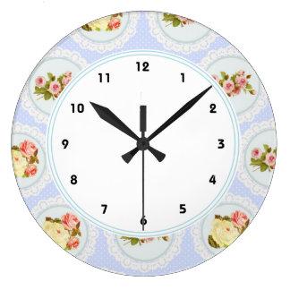 Ate el reloj de pared azul elegante lamentable flo