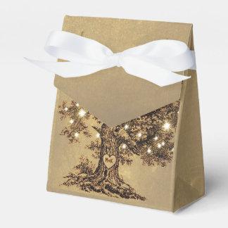 ate la caja rústica vieja del favor del boda del caja para regalos de fiestas