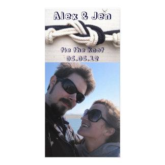 Ate la reserva del nudo la fecha tarjeta con foto personalizada