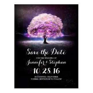 Ate la reserva romántica del árbol de las luces la tarjeta postal