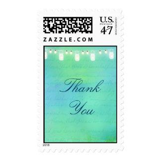 Ate las luces y los tarros de albañil en verde timbres postales