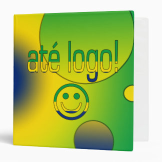 Até Logo! Brazil Flag Colors Pop Art Binder