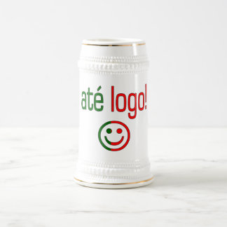 Até Logo! Portugal Flag Colors Beer Stein