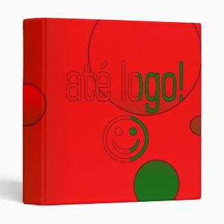 Até Logo! Portugal Flag Colors Pop Art Binder