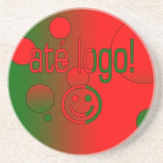 Até Logo! Portugal Flag Colors Pop Art Coaster