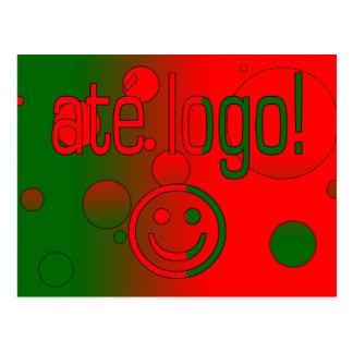 Até Logo! Portugal Flag Colors Pop Art Postcard