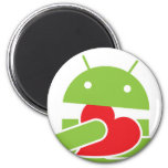 Ate my heart Android 2 Inch Round Magnet