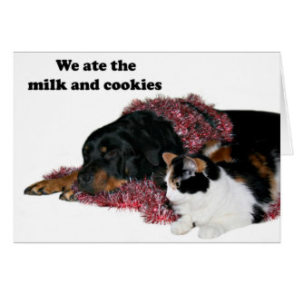 Ate the milk and cookies card