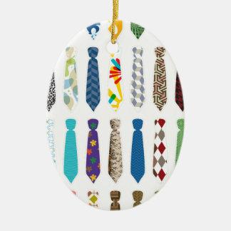 Ate un día stroke.png blanco adorno navideño ovalado de cerámica