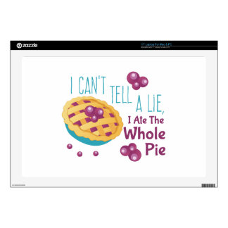 Ate Whole Pie Laptop Decal