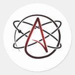 Ateísmo Pegatina Redonda