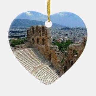Atenas Grecia el Colosseum Ornamento Para Arbol De Navidad