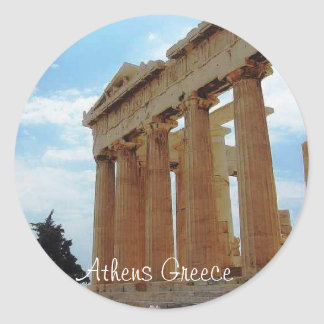 Atenas Grecia Etiquetas Redondas